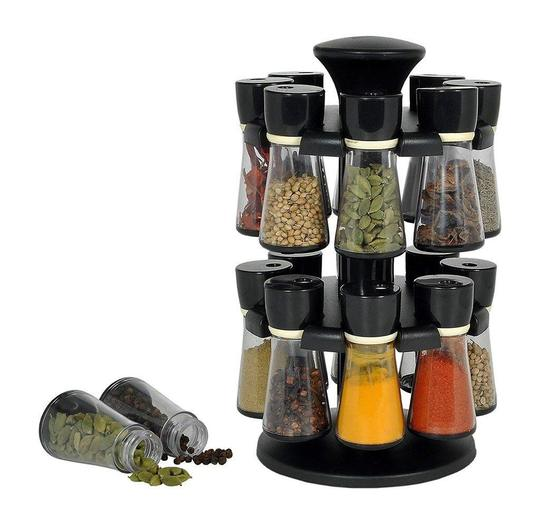 Spice Rack With 16 Jars - Kitchen Utility