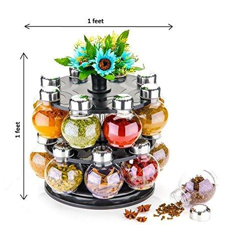 Round Shaped Spice Rack With 16 Jars
