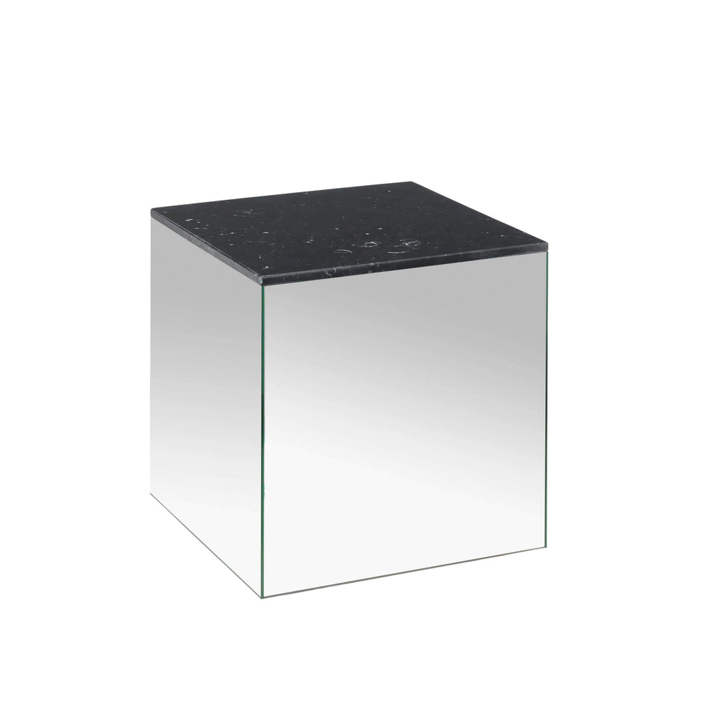 kristina dam studio small mirror table black marble