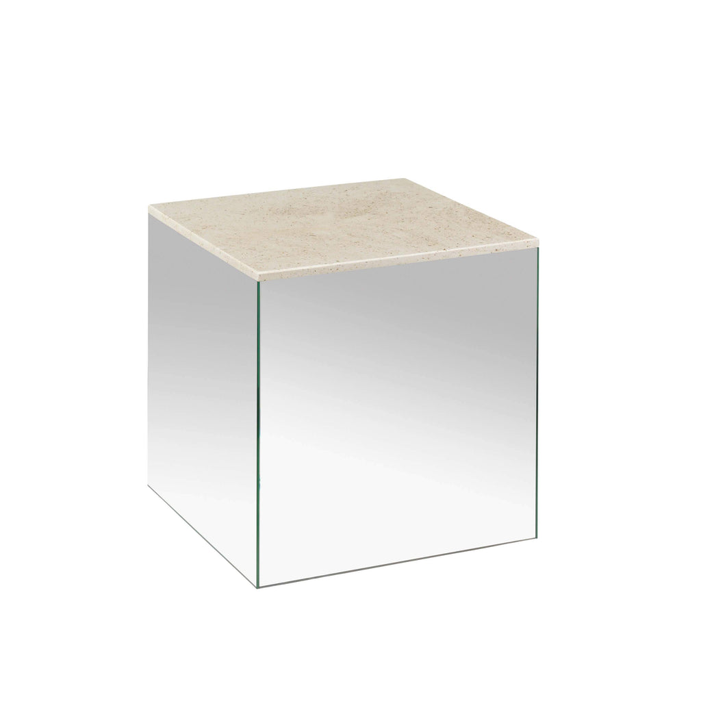 kristina dam studio small mirror table mocca marble