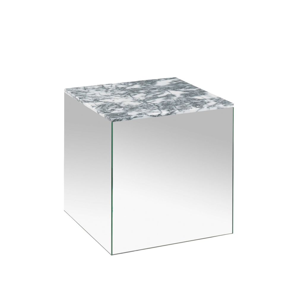 kristina dam studio grey tigerskin marble mirror table small