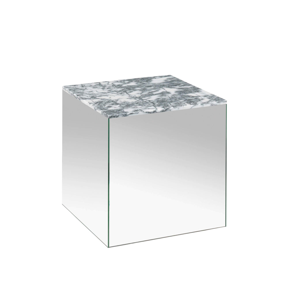 kristina dam studio small mirror table grey marble