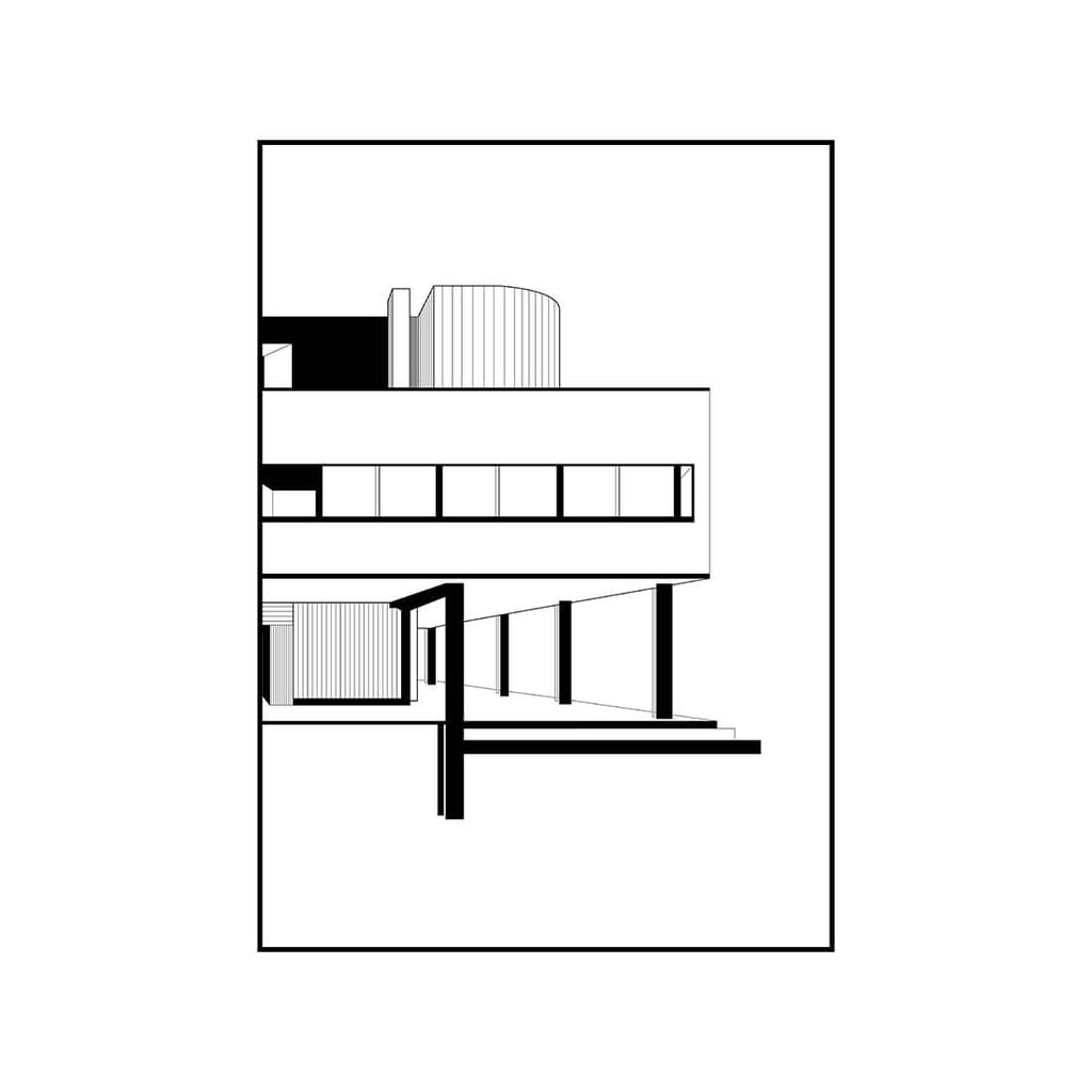 Kristina dam studio villa savoye illustration signed and numbered