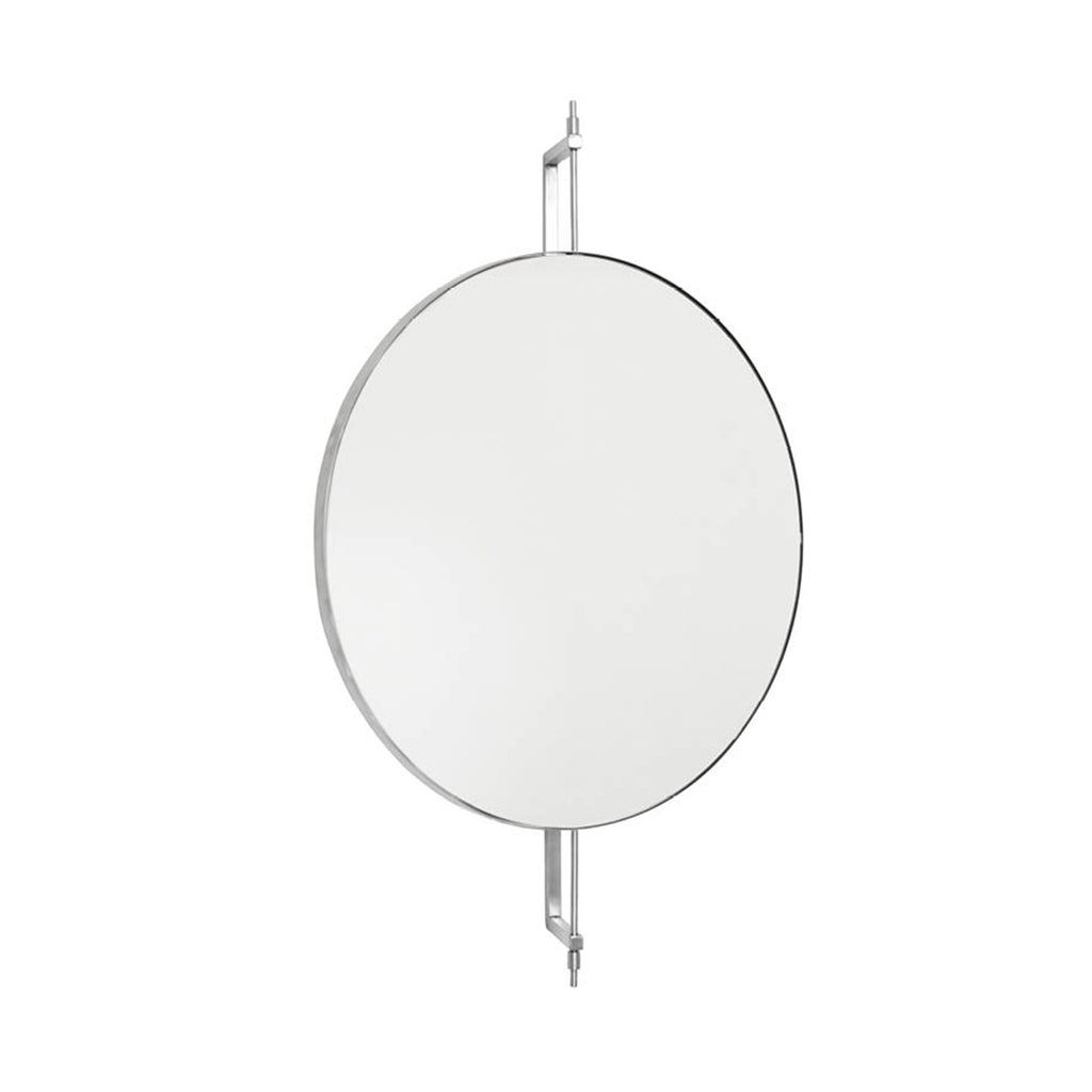 buy rotating mirror in stainless steel by Kristina Dam studio