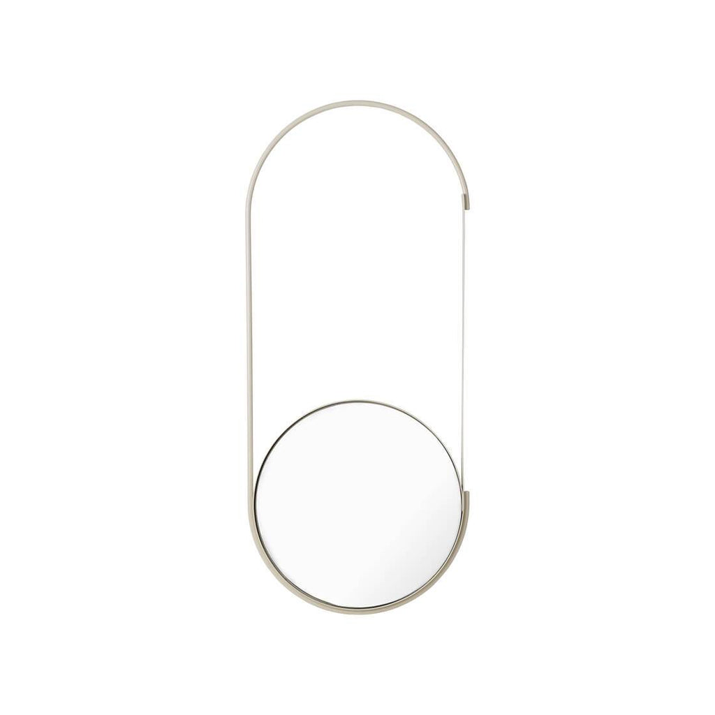 mobile mirror in beige by danish design studio KDS
