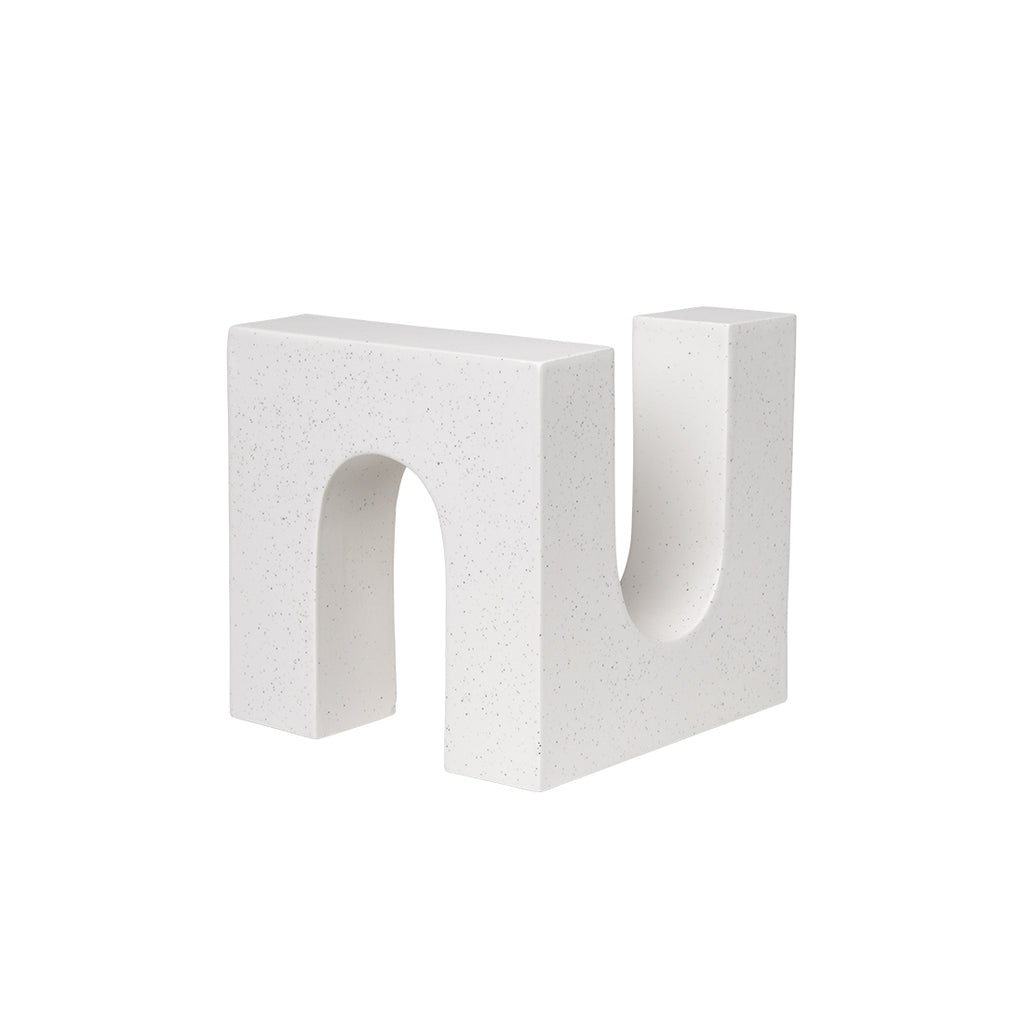 Kristina Dam Studio Brick Sculpture ceramic white design object