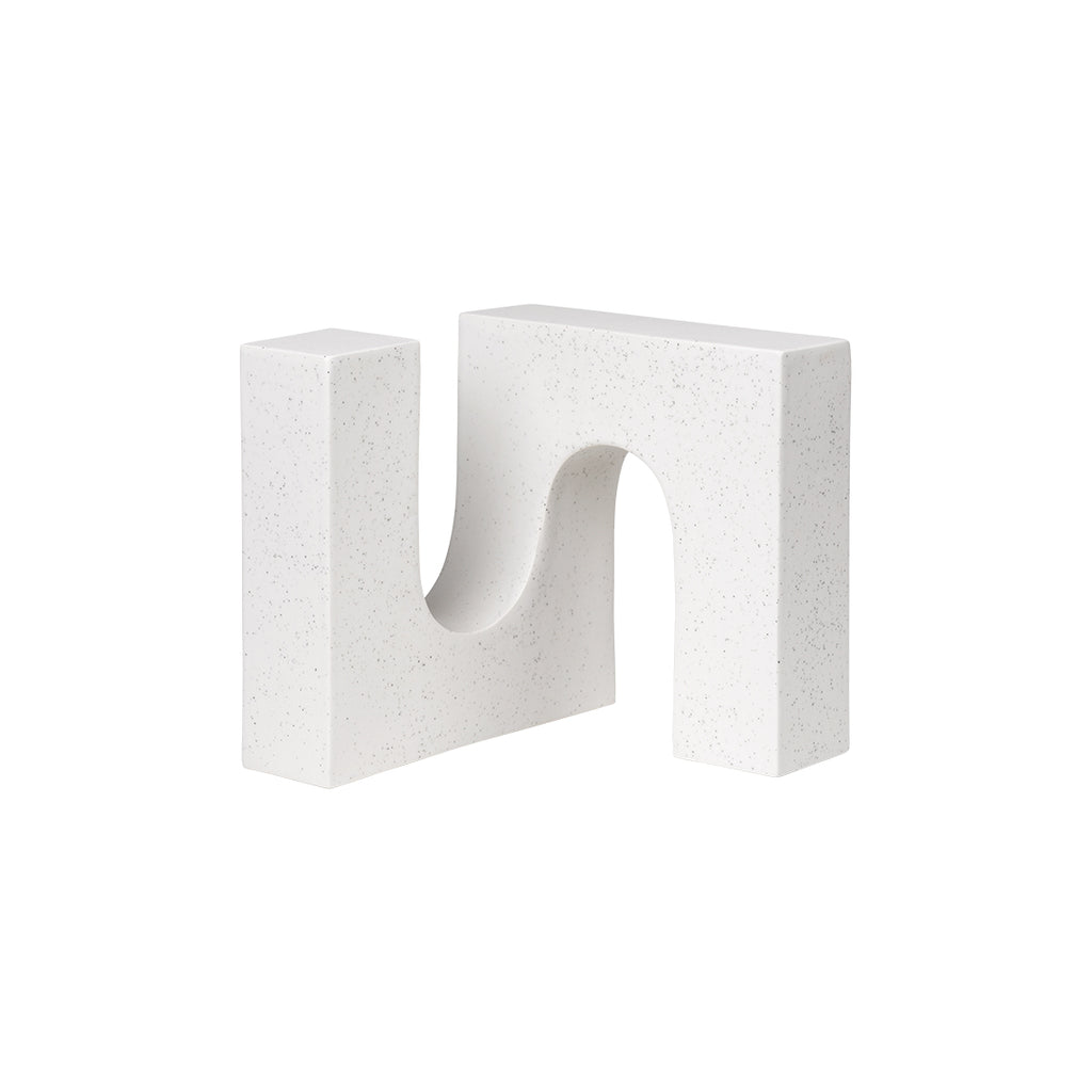 Ceramic white sculpture Kristina Dam Studio brick sculpture