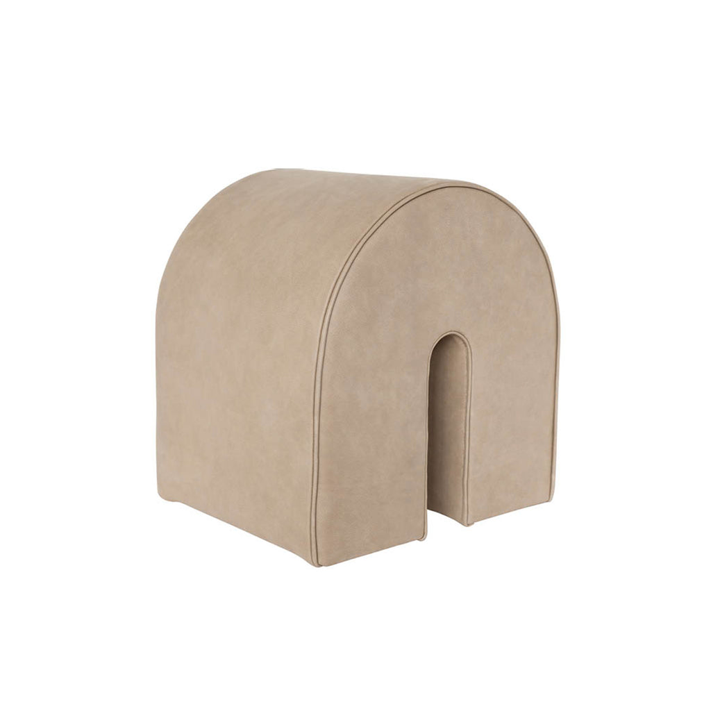 kristina dam studio curved pouf tan leather