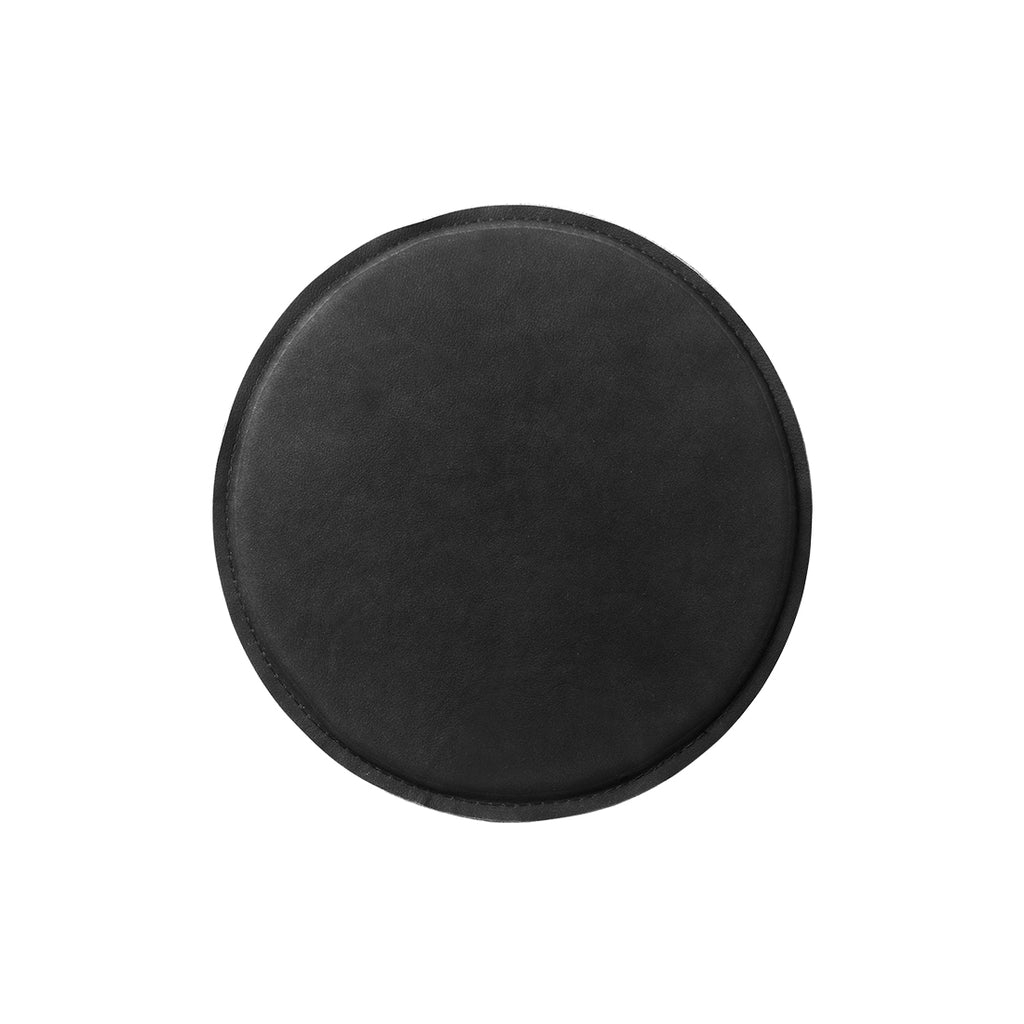 kristina dam studio stool seating cushion black leather