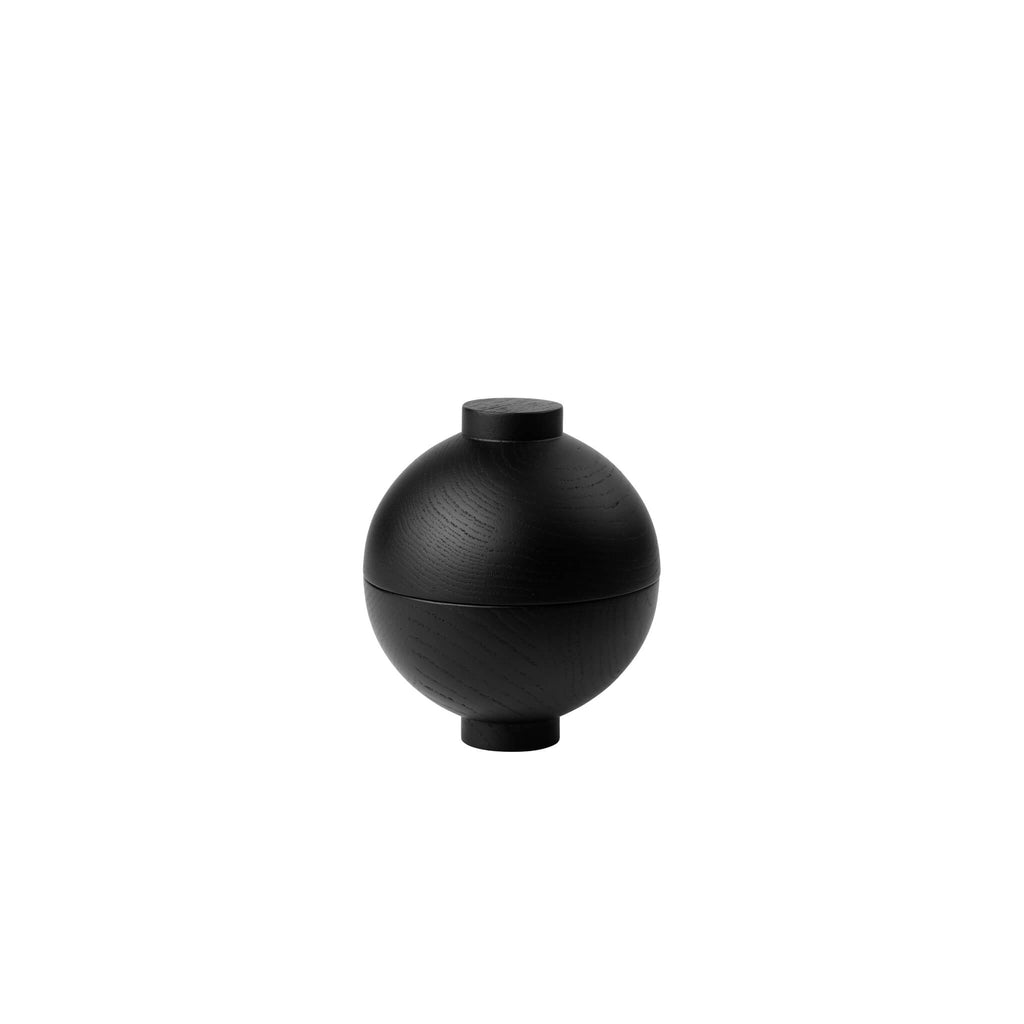 bonbonniere black oak danish design wooden sphere by kristina dam studio