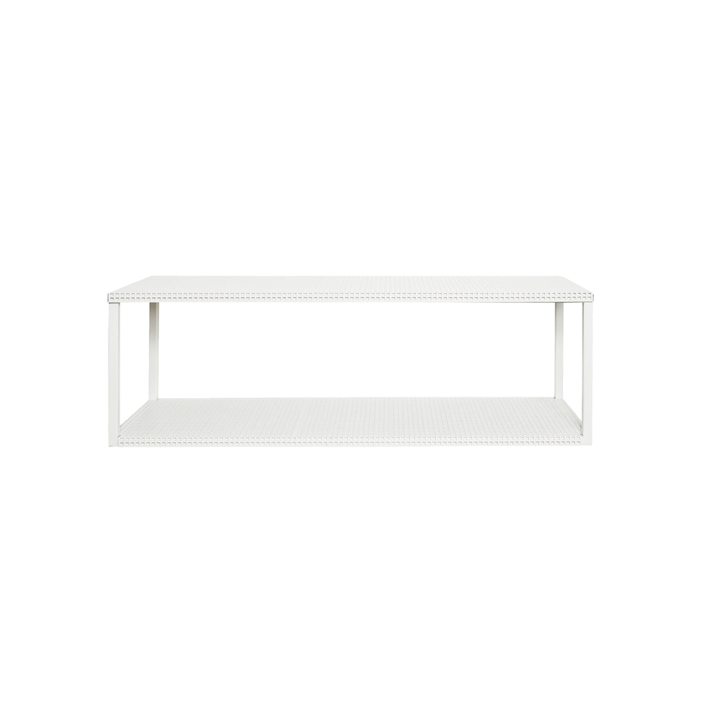 shelving system white powder coated steel grid wall shelf kristina dam