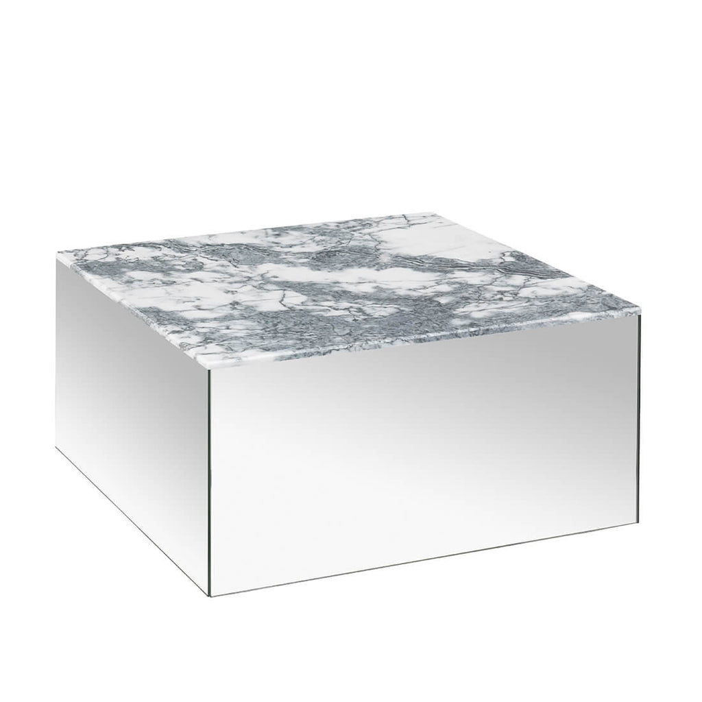 kristina dam studio large mirror table grey tigerskin marble