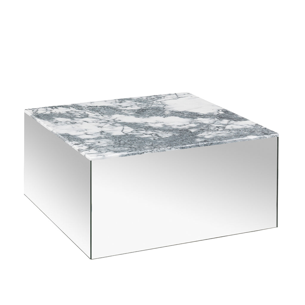 kristina dam studio grey tigerskin marble mirror table