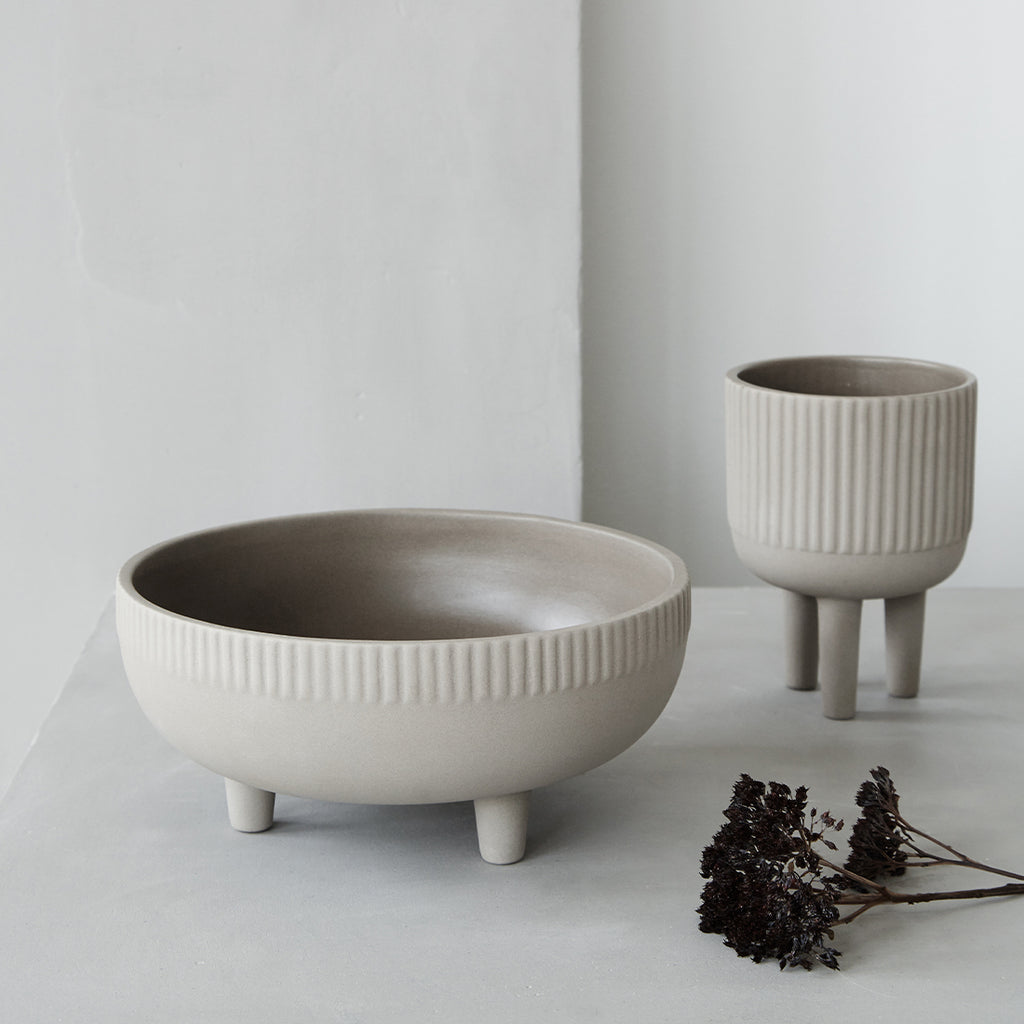 grey terracotta bowls design by Kristina Dam