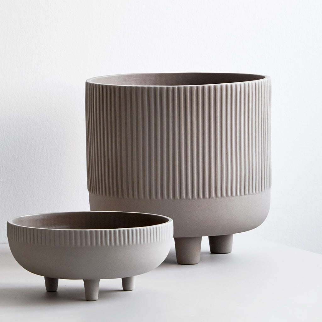 Kristina Dam bowls made of terracotta with Grey Engobe
