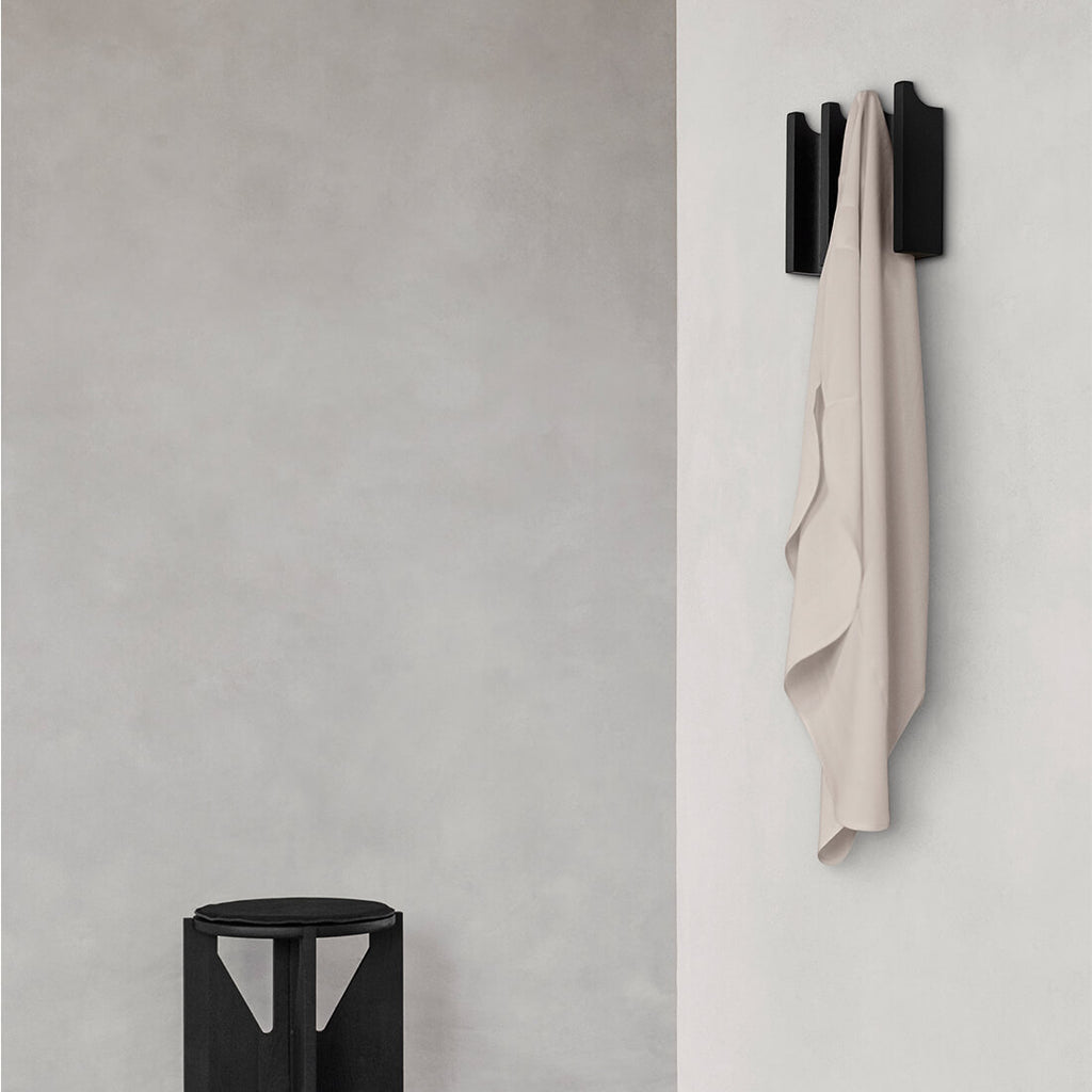 Small black coat rack perfect for small spaces kristina dam studio