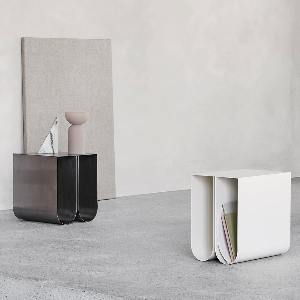 Kristina dam studio side table beige magazine holder