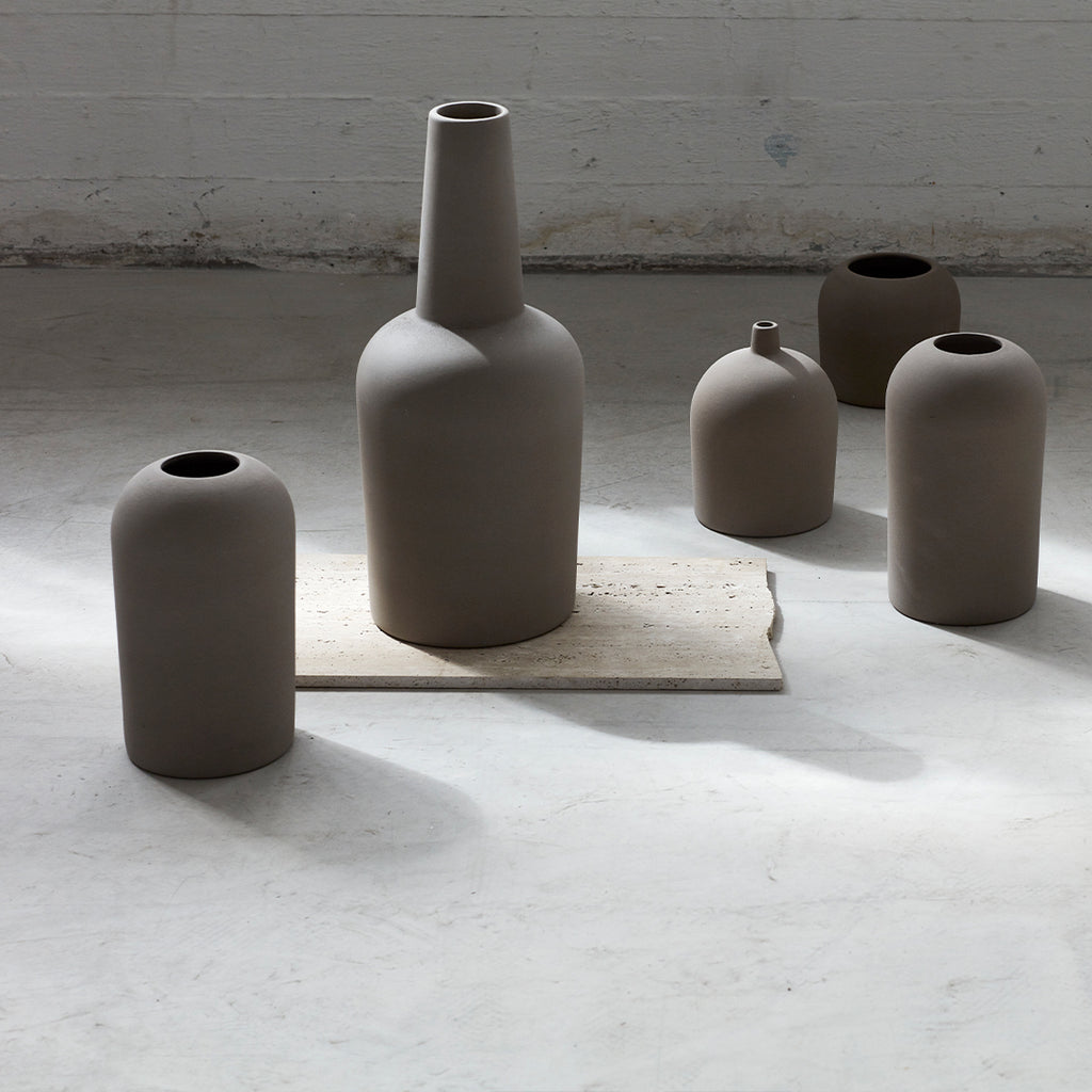 Decorative terracotta Dome vase from danish design brand Kristina Dam studio