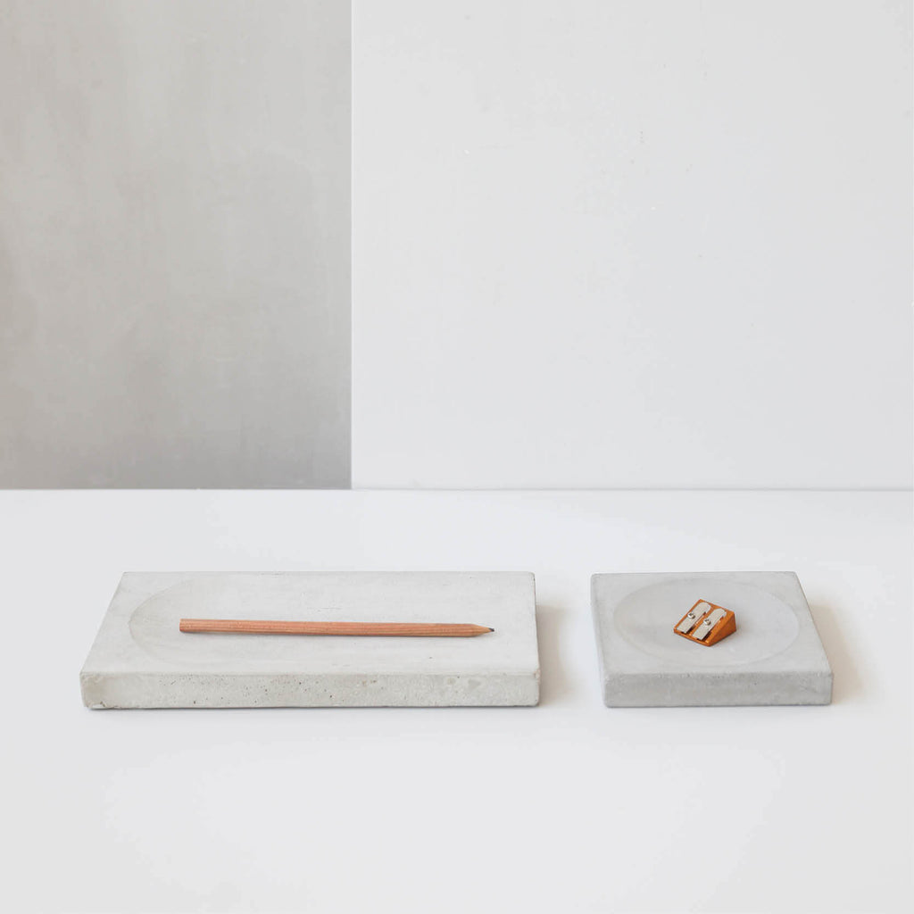 concrete desk organizer danish design trays kristina dam studio