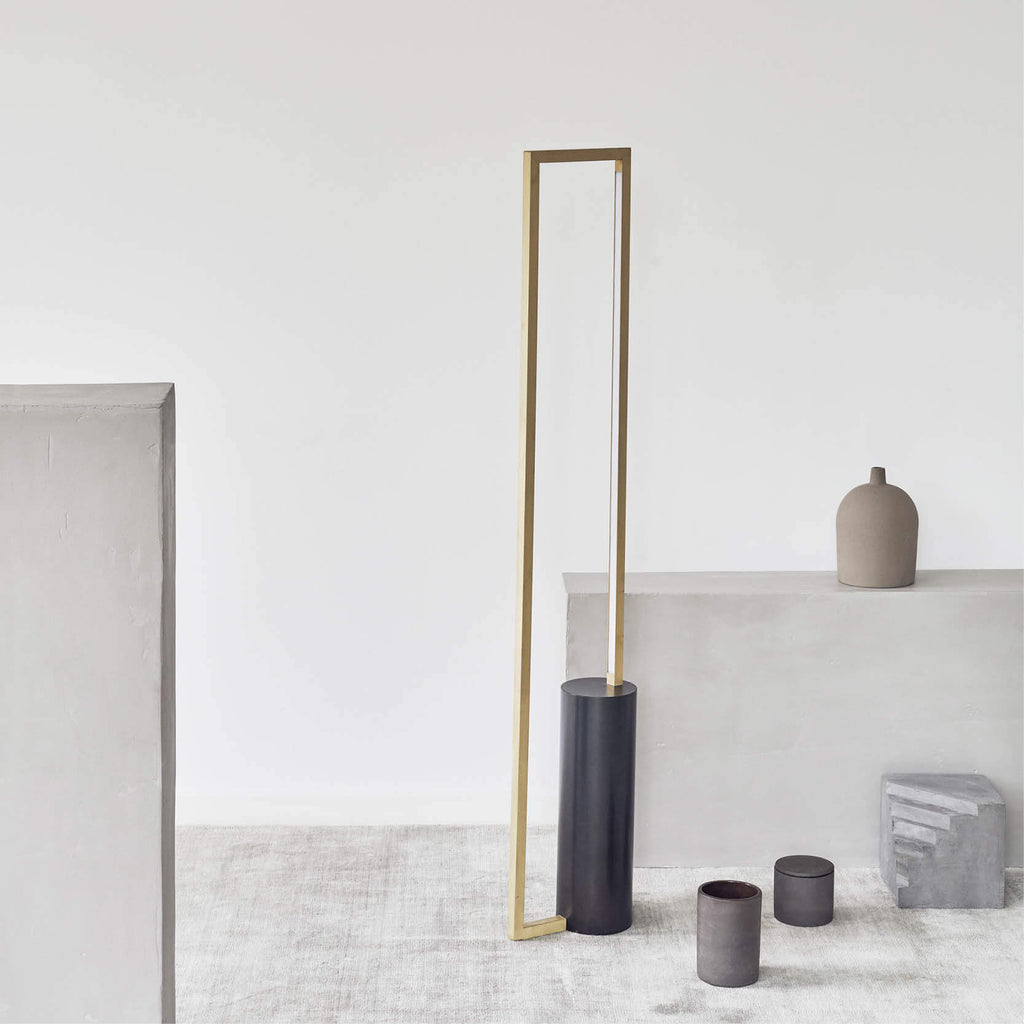 Buy danish design Kristina Dam brass and steel lamp