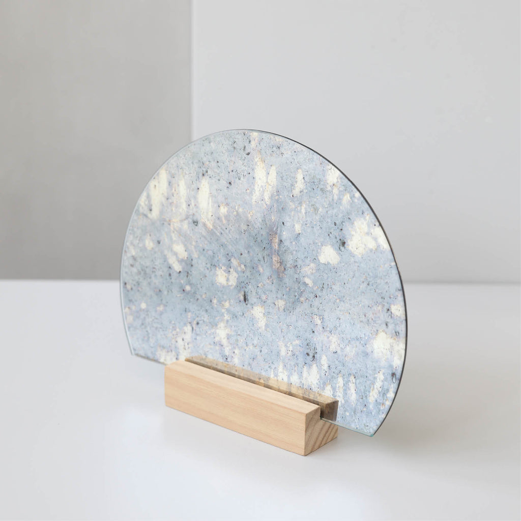 buy antique minimalist mirror half moon mirror