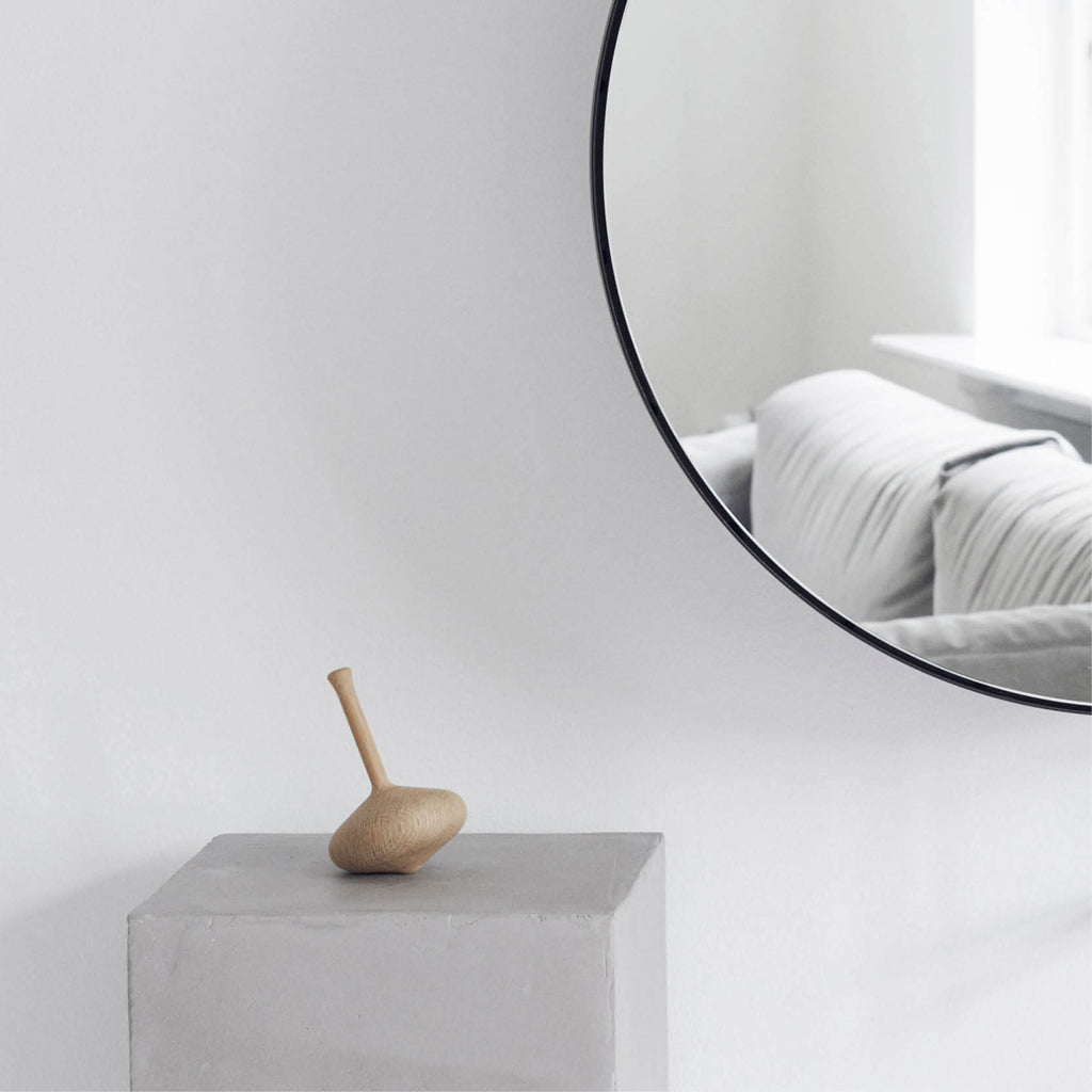 sculptural design object cloud spinning top by kristina dam studio