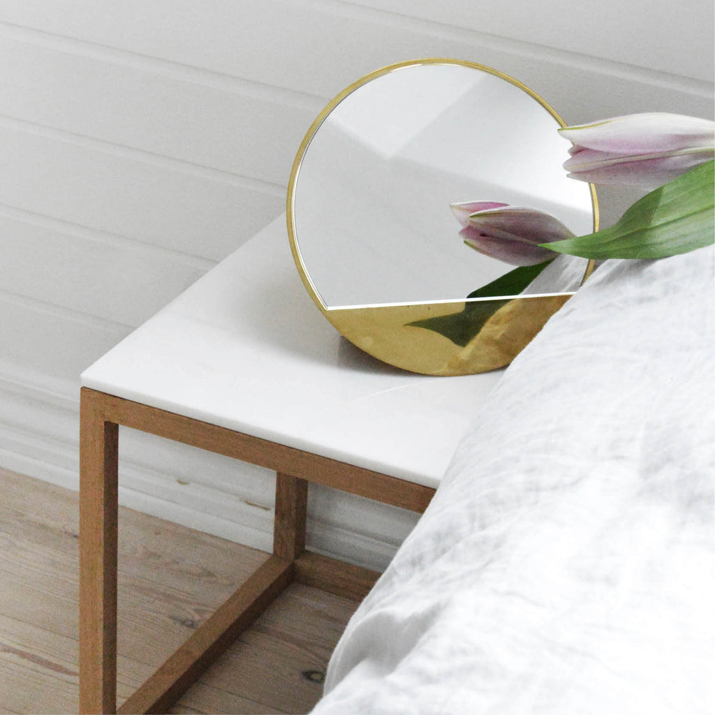 Brass Mirror Sculpture Danish Design Kristina Dam Studio