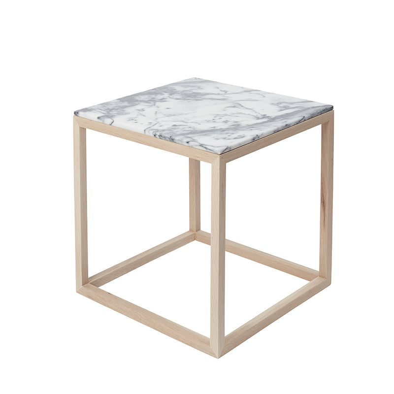cueb table grey marble top oak frame kristina dam design