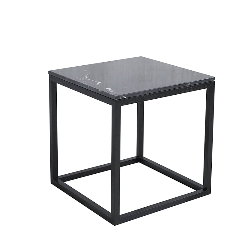 Cube Table | Black Frame | Grey Marble