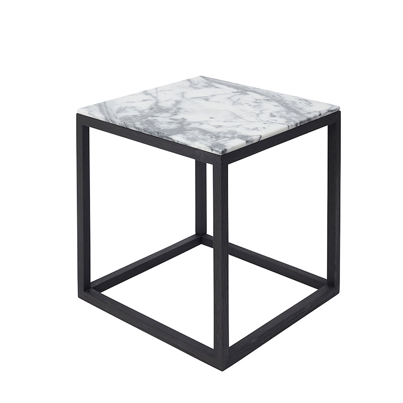 kristina dam black oak table cube table design bug danish