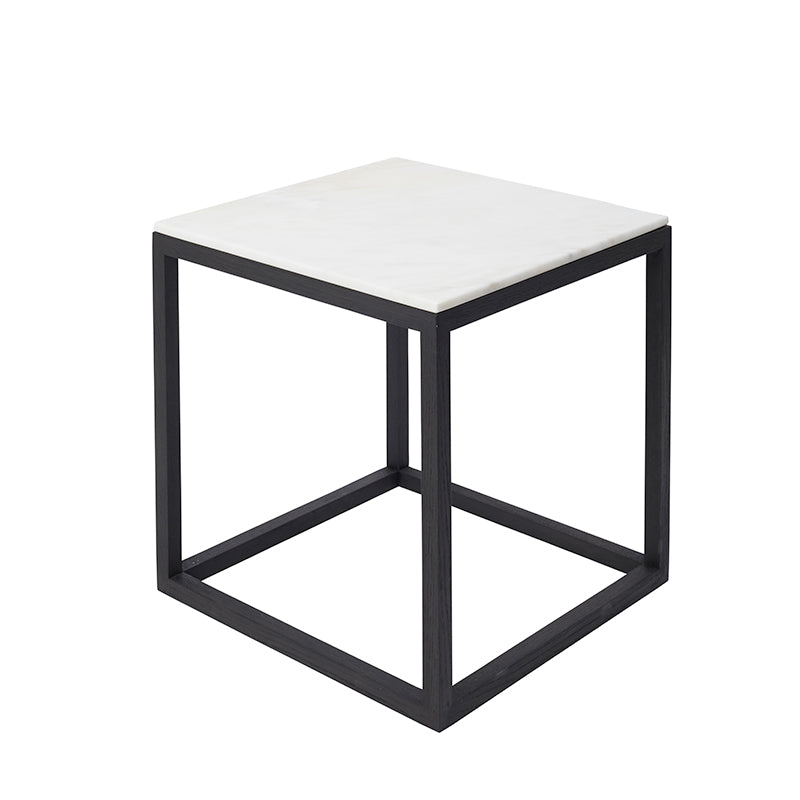 buy cube table black oak white marble design kristina dam