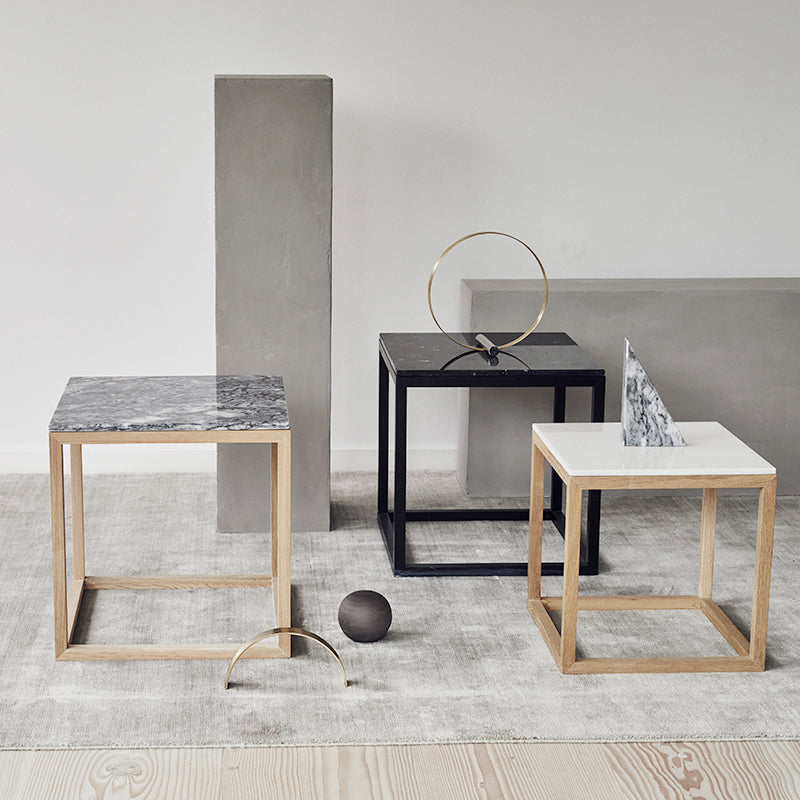 side tables in black kristina dam studio