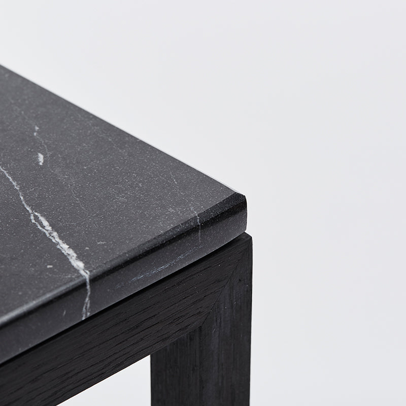kristina black oak table marble design danish