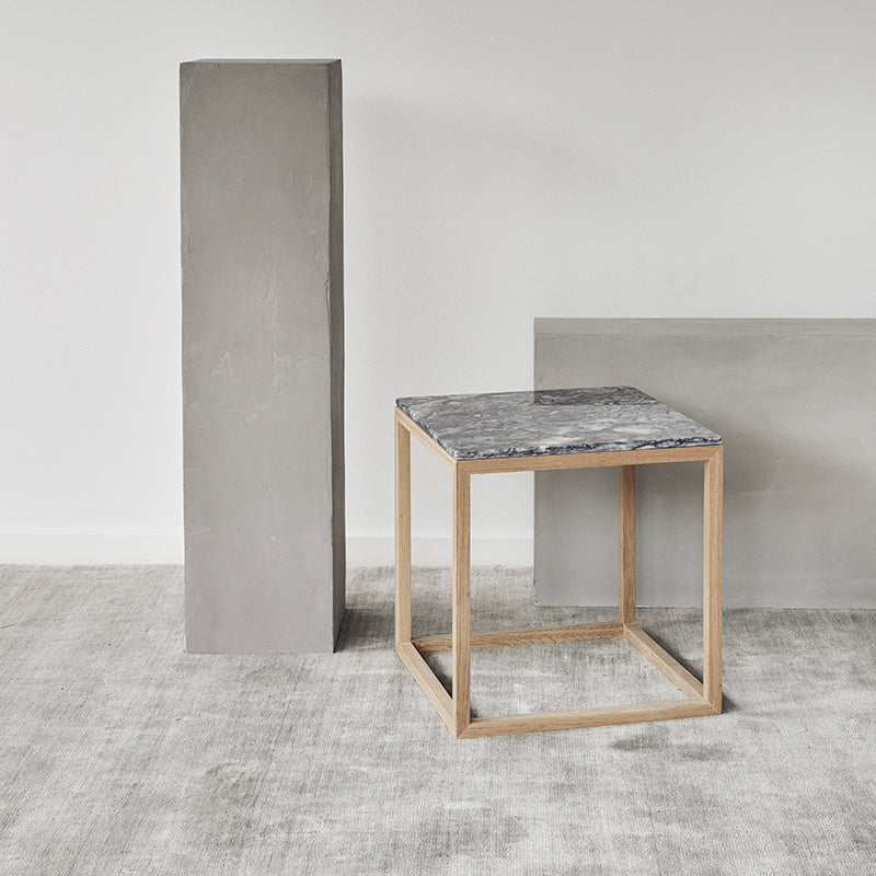 Buy table grey marlbe cube oak frame kristina dam studio