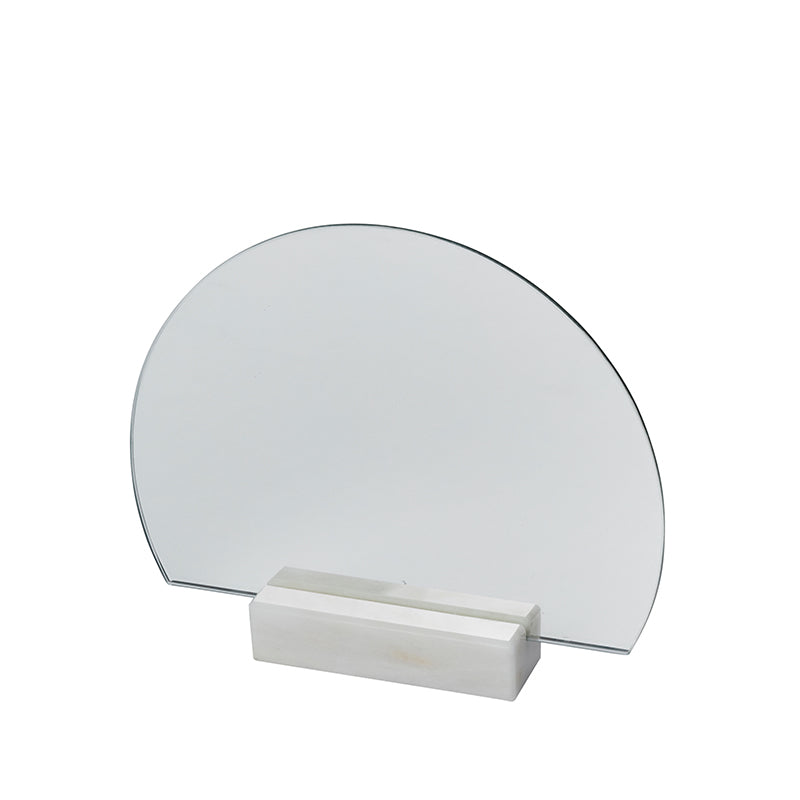 bathroom mirror danish design kristina dam half moon