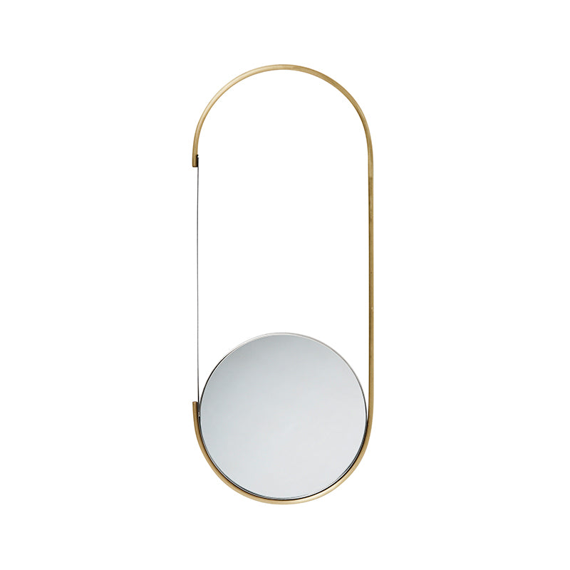 mobile mirror brass mirror danish design kristina dam