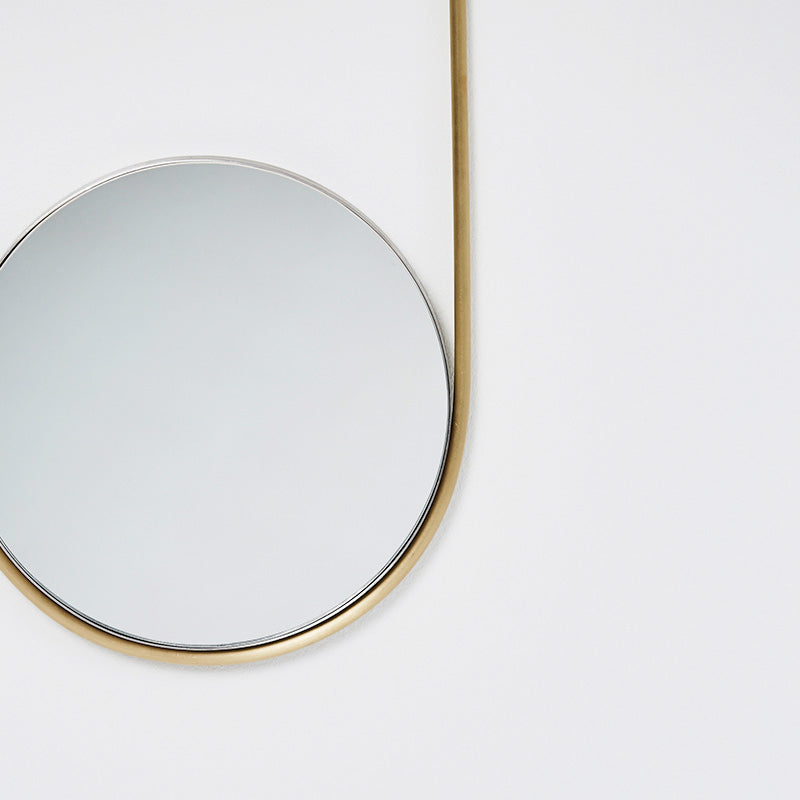 brass mirror steel mobile kristina dam Scandinavian design Denmark