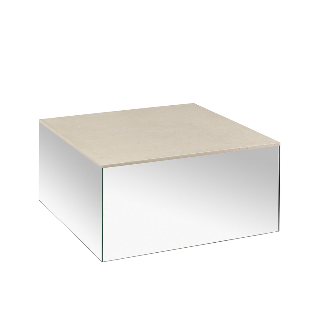 kristina dam studio mirror table mocca marble