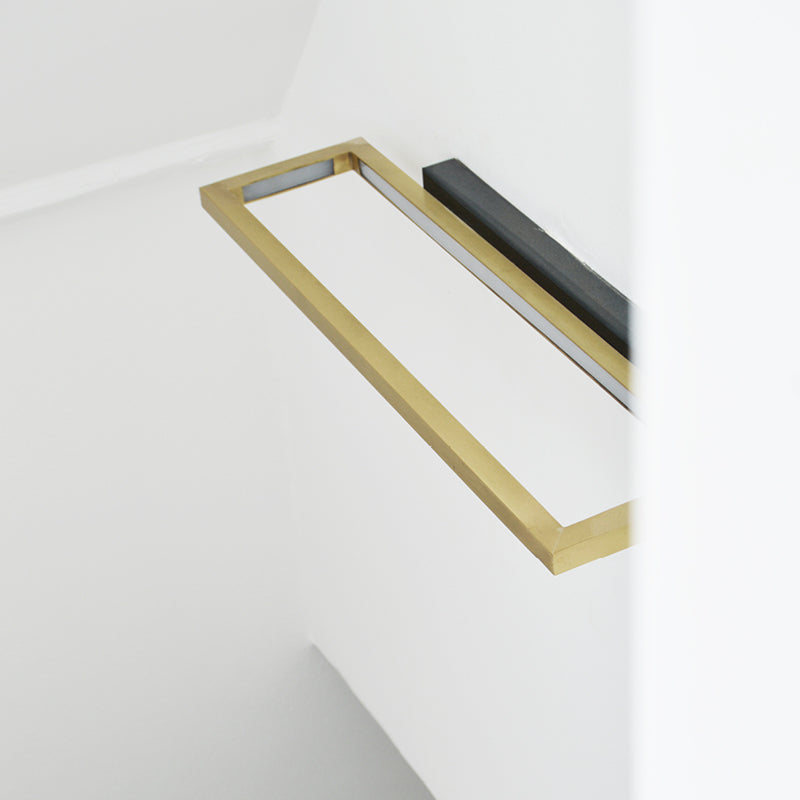led lamp design brass rectangle kristina dam studio