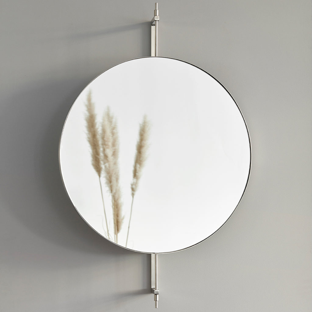 stainless steel round bathroom mirror rotating mirror kristina dam studio