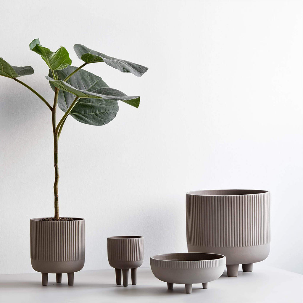 The entire selection of three legged bowls from Kristina Dam studio