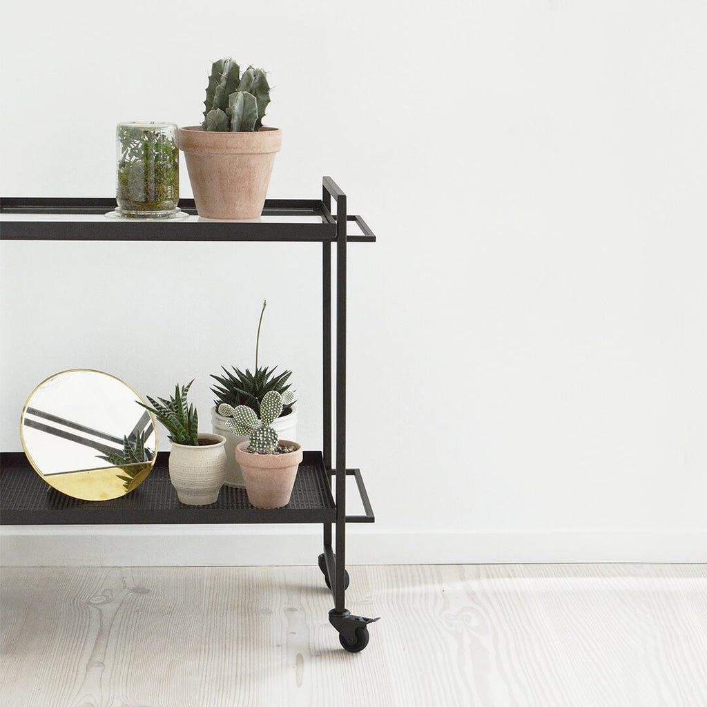 plant holder trolley black steel kristina dam studio