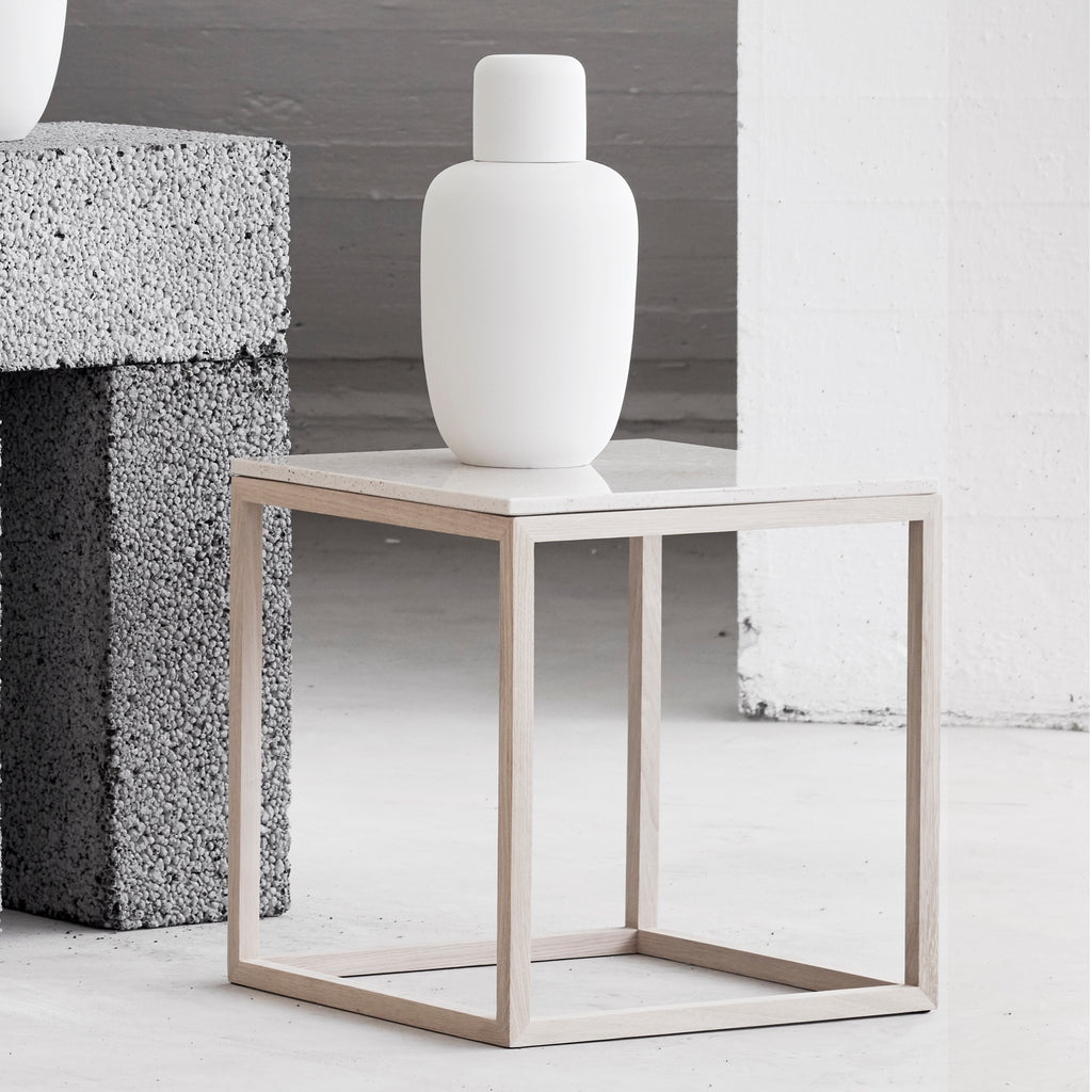 Oak marble coffee table kristina dam studio danish design