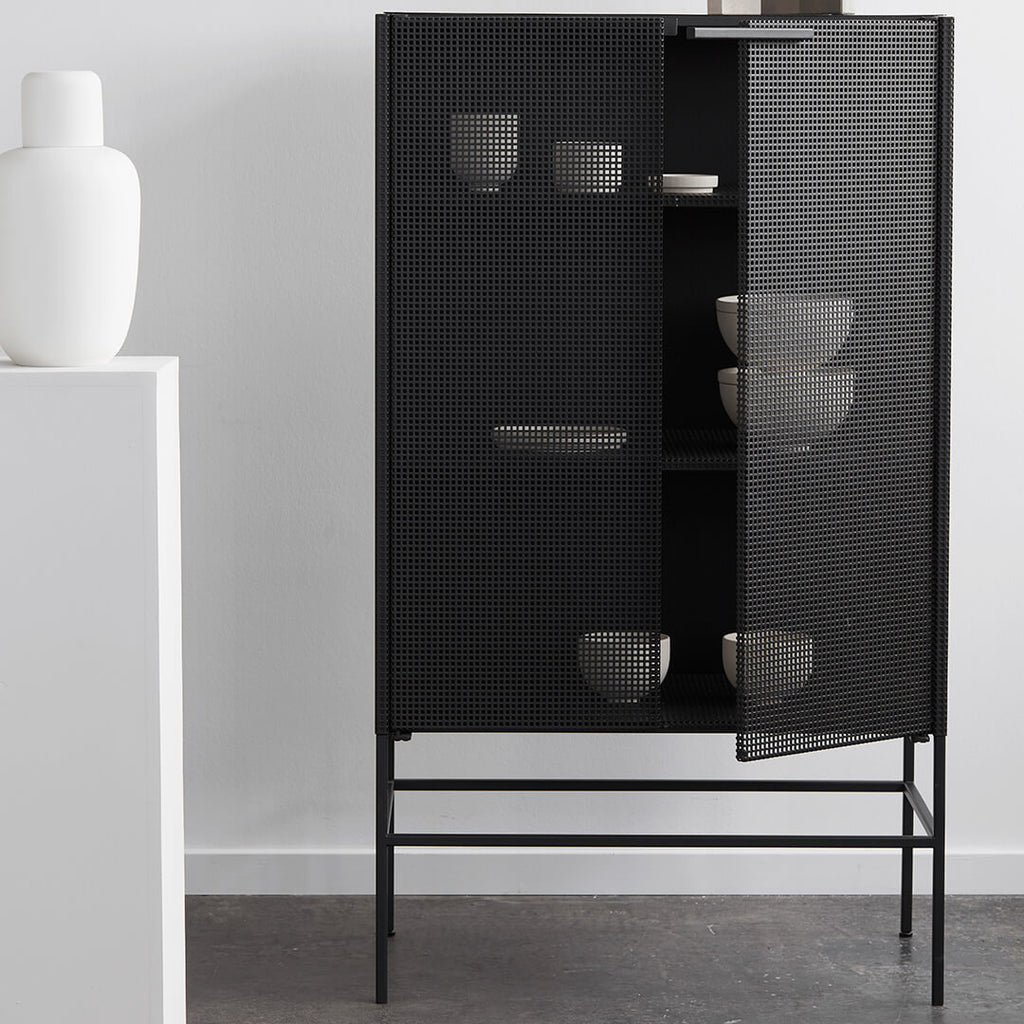 industrial black steel cabinet danish design kristina dam studio