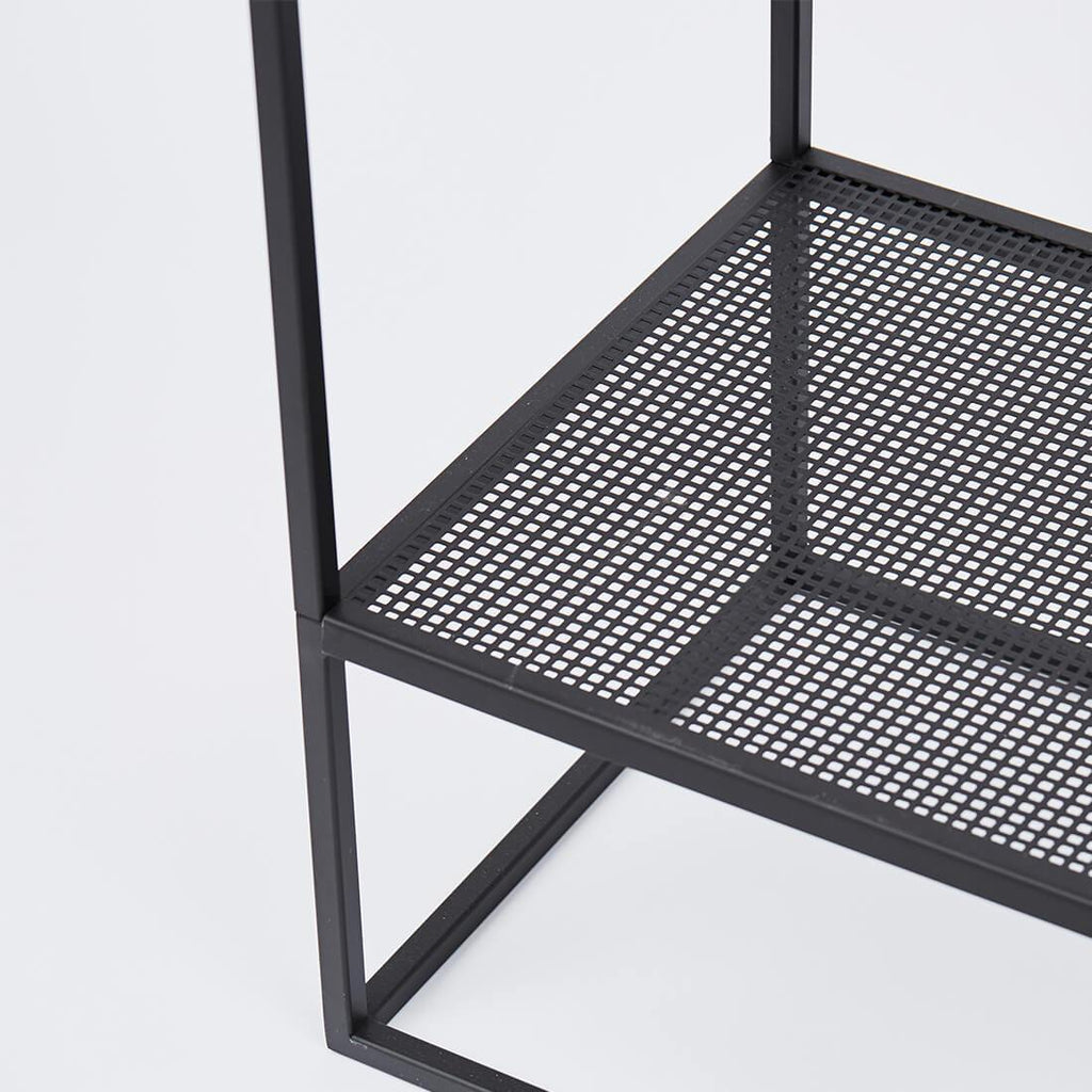 industrial minimalistic clothes rack black kristina dam studio