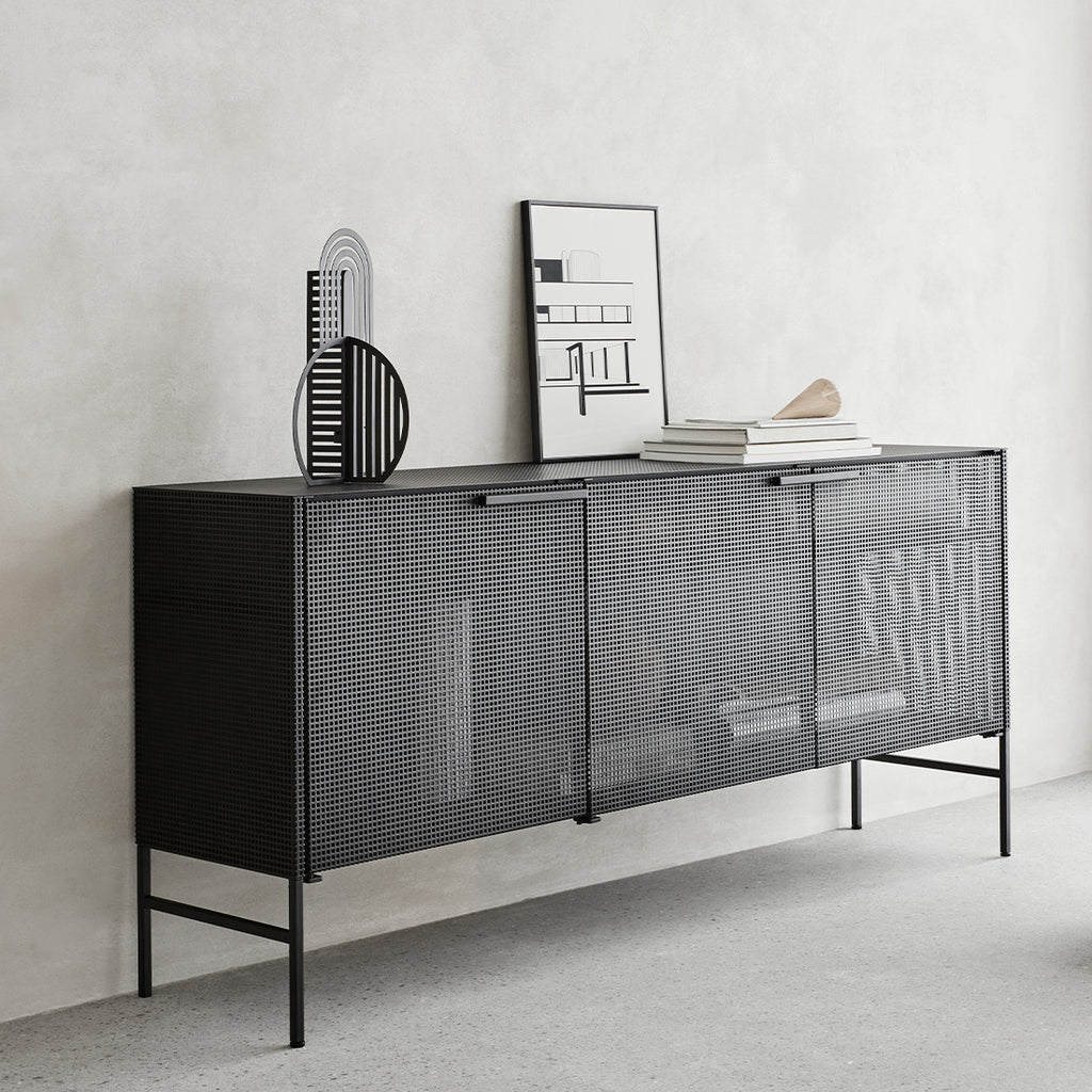 shop kristina dam studio grid sideboard black steel