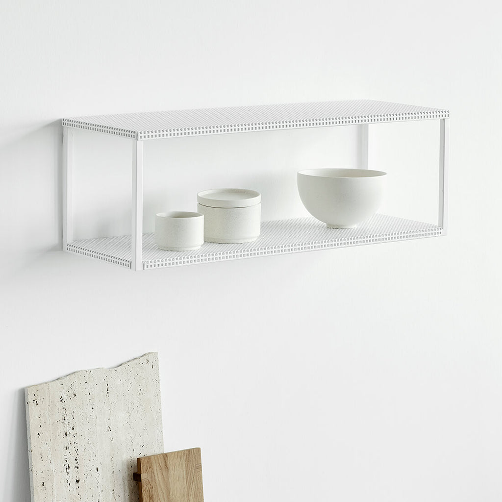 kristina dam studio steel white wall shelf