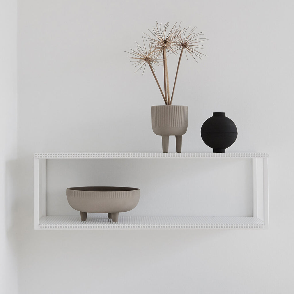 danish design white steel shelf kristina dam studio