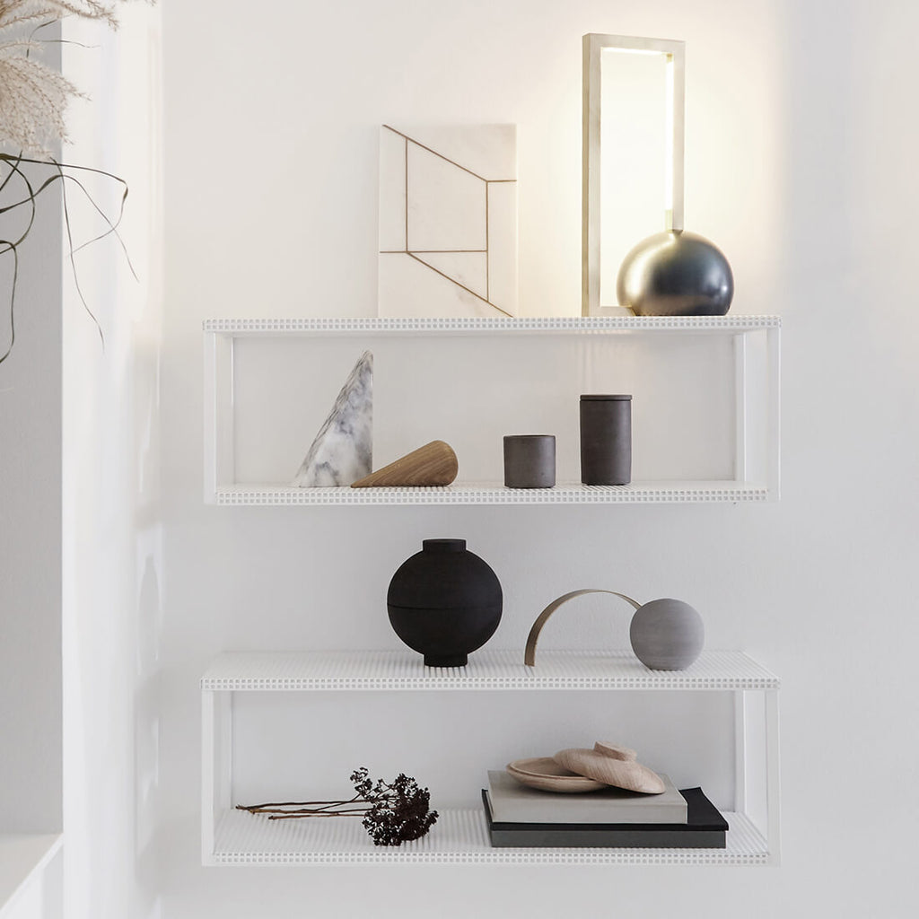 kristina dam studio grid wall shelf double wall shelf steel