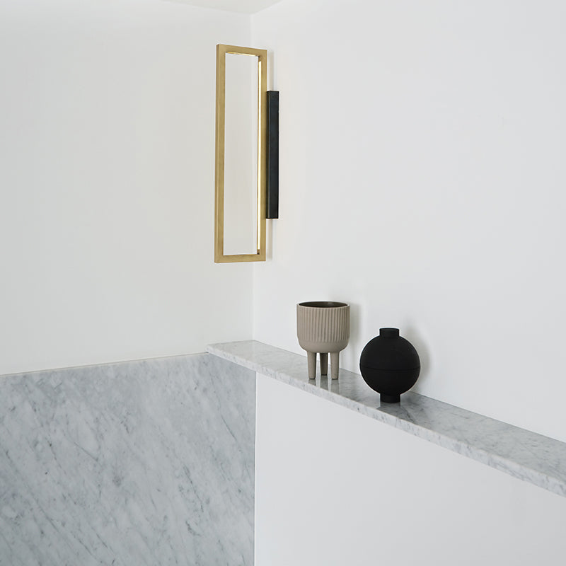 wall lamp kristina dam brass led light design kristina dam